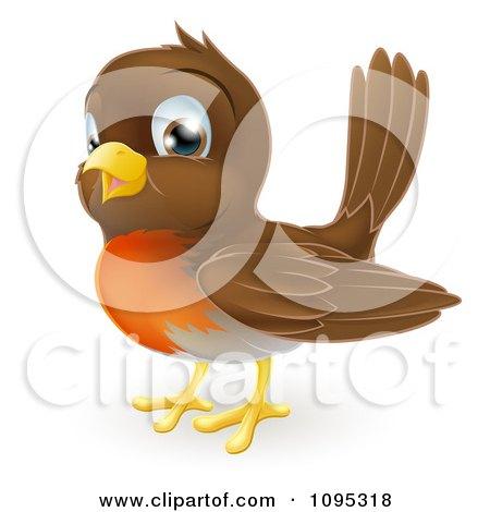 Clipart Cute Robin Bird - Royalty Free Vector Illustration by AtStockIllustration