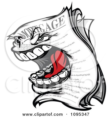 Clipart Screaming Mortgage Character - Royalty Free Vector Illustration by Chromaco
