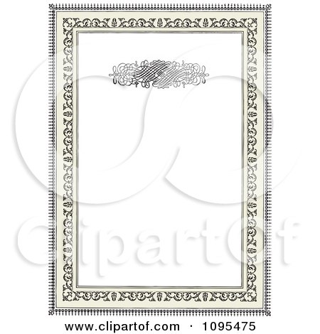 Clipart Black Ornamental Wedding Invitation Frame With Swirls And Copyspace