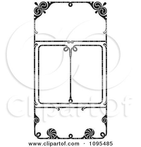 Clipart Black And White Vintage Ornate Wedding Invitation Frames ...
