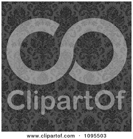 Clipart Gray Distressed Damask Background - Royalty Free Vector Illustration by BestVector