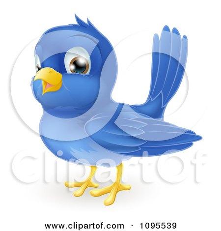 Clipart Happy Bluebird - Royalty Free Vector Illustration by AtStockIllustration