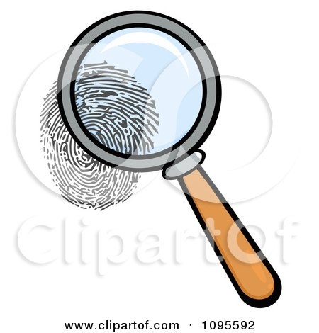 Clipart Illustration of a Human Fingerprint In Ink by KJ Pargeter ...