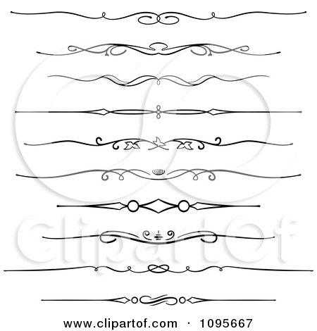Clipart Black And White Rule Border Design Elements 6 - Royalty Free Vector Illustration by Frisko