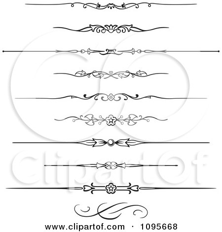 Clipart Black And White Rule Border Design Elements 7 - Royalty Free Vector Illustration by Frisko