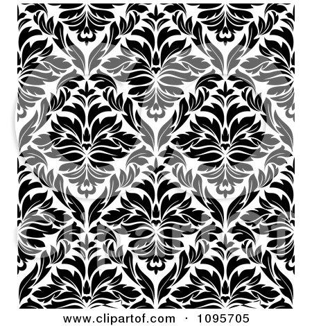 BLACK AND WHITE BOLD DAMASK LARGE PATTERN WALLPAPER VG26230P | eBay