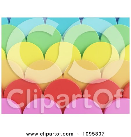 Clipart 3d Colorful Scallops 2 - Royalty Free CGI Illustration by Mopic
