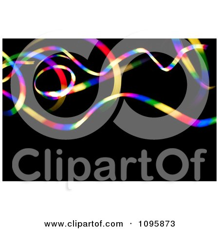 Clipart Colorful Light Waving On Black - Royalty Free CGI Illustration by Arena Creative