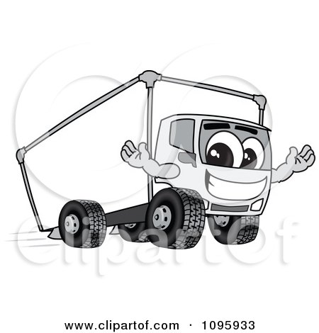 Clipart Friendly Delivery Big Rig Truck Mascot Character - Royalty Free Vector Illustration by Toons4Biz