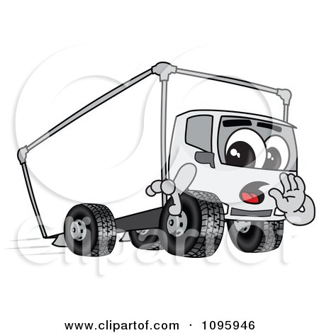 Clipart Delivery Big Rig Truck Mascot Character Whispering - Royalty Free Vector Illustration by Toons4Biz