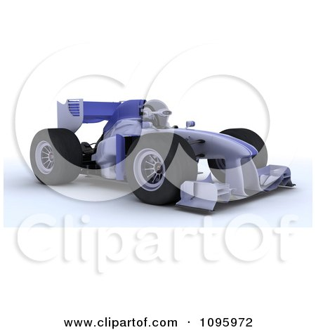 Clipart 3d Robot Driving Formula 1 Race Car - Royalty Free CGI Illustration by KJ Pargeter