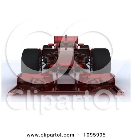 Clipart 3d Dark Red Formula One Race Car 1 - Royalty Free CGI Illustration by KJ Pargeter
