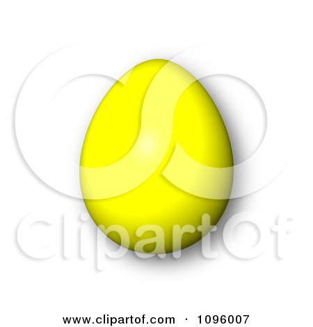 Clipart 3d Yellow Easter Egg And Shadow - Royalty Free CGI Illustration by oboy