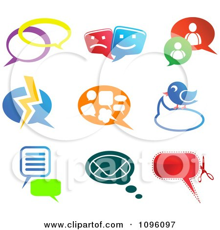 Clipart Instant Messenger And Social Network Chat Icons - Royalty Free Vector Illustration by Vector Tradition SM
