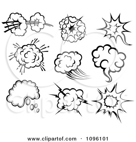 Clipart Comic Poofs 3 - Royalty Free Vector Illustration by Vector Tradition SM