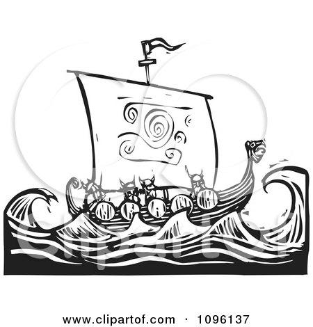 Sea Dragons Drawings a Dragon Ship at Sea Black