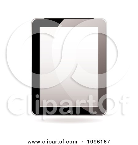 Clipart Blank Screen On A 3d Tablet Computer - Royalty Free Vector Illustration by michaeltravers