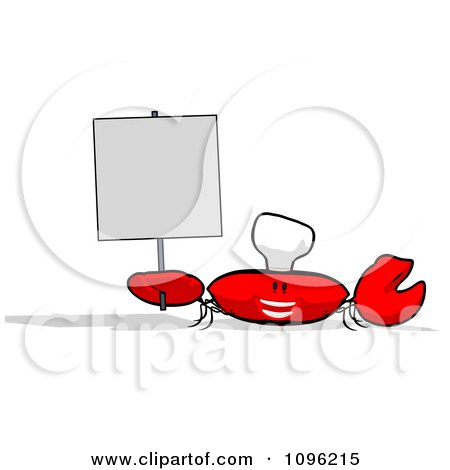 clipart 3d chef crab royalty free cgi illustration by