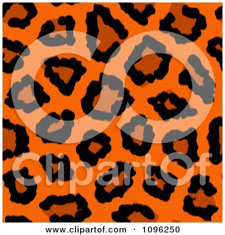 75aa46faaa Clipart Background Pattern Of Neon Orange Leopard Print - Royalty Free  Illustration by KJ Pargeter