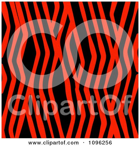 Clipart Background Pattern Of Zig Zag Zebra Stripes On Neon Red - Royalty Free Illustration by KJ Pargeter