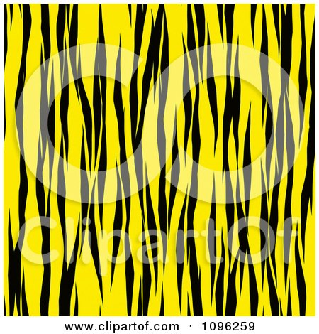 Clipart Background Pattern Of Tiger Stripes On Neon Yellow - Royalty Free Illustration by KJ Pargeter