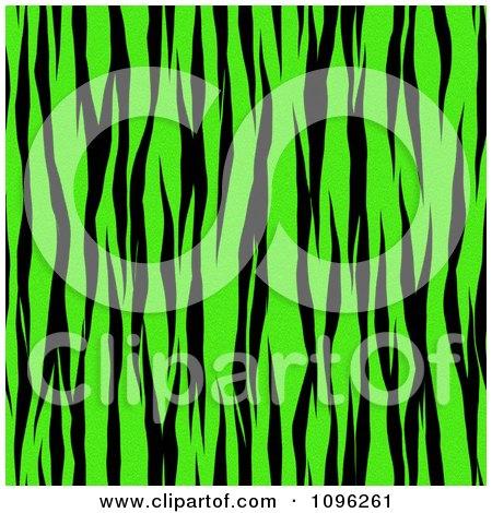 Clipart Background Pattern Of Zebra Stripes On Neon Green