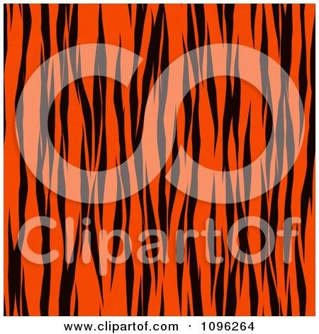 Clipart Background Pattern Of Tiger Stripes On Neon Orange - Royalty Free Illustration by KJ Pargeter