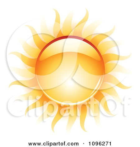 Clipart 3d Shiny Summer Sun And Heat Waves - Royalty Free Vector Illustration by TA Images
