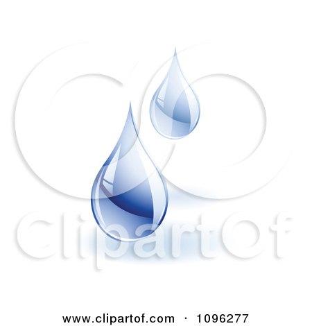 3d Water Droplets Falling Posters, Art Prints