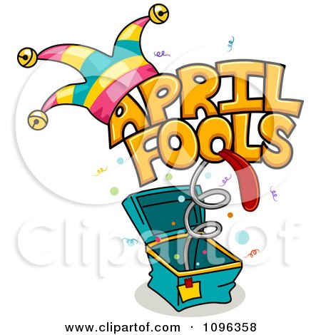 Clipart April Fools Jack In The Box - Royalty Free Vector Illustration by BNP Design Studio