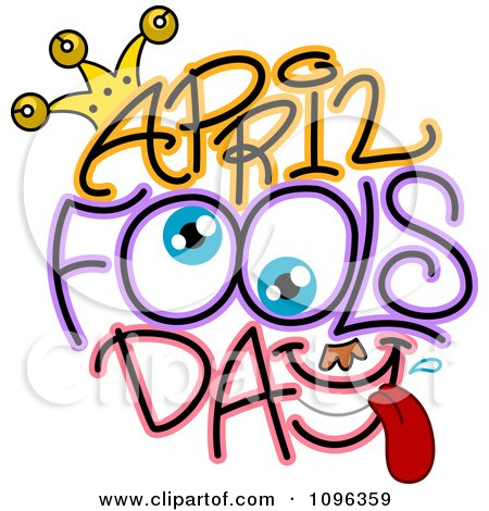 Clipart Eyes And April Fools Day Text - Royalty Free Vector Illustration by BNP Design Studio