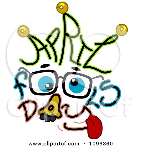 Clipart Groucho Costume And April Fools Day Text - Royalty Free Vector Illustration by BNP Design Studio