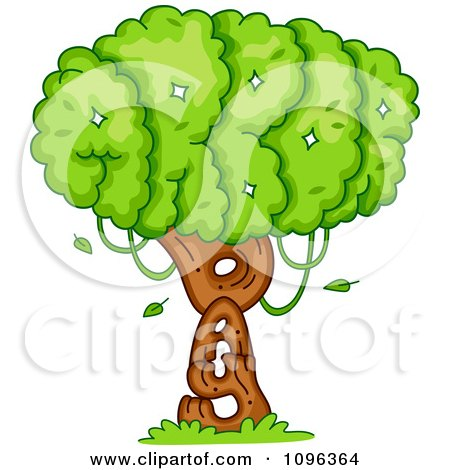Clipart Tree Foliage And Trunk Spelling Arbor Day - Royalty Free Vector Illustration by BNP Design Studio