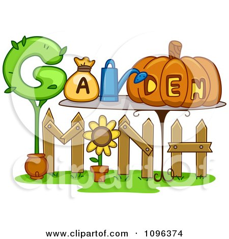 Clipart Happy Children Watering Planting And Climbing A