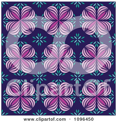 Clipart Seamless Floral Kaleidoscope Background Pattern 1 - Royalty Free Vector Illustration by Cherie Reve