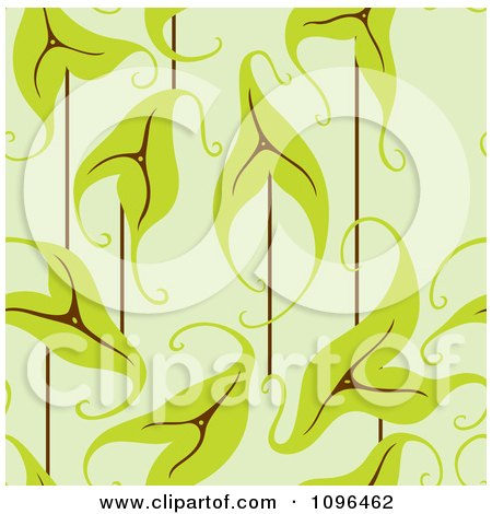 Clipart Seamless Ornate Leaf Background Pattern - Royalty Free Vector Illustration by Cherie Reve