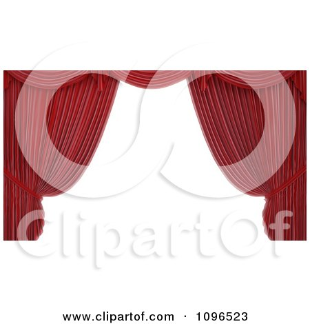 Clipart 3d Read Theater Stage Curtain Frame - Royalty Free CGI Illustration by Mopic