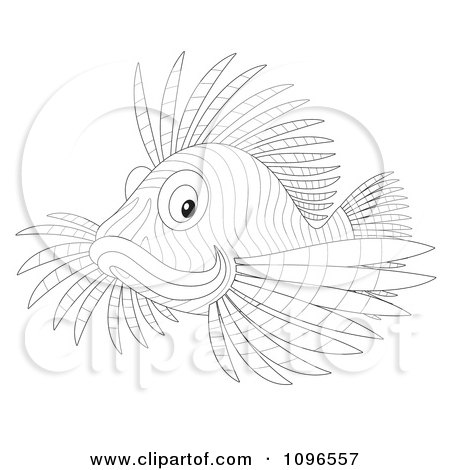 Lionfish cartoon drawings gallery for Lionfish coloring page