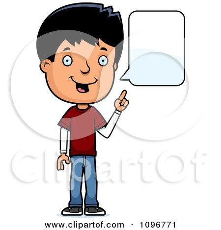 Clipart Adolescent Teenage Boy Talking - Royalty Free Vector Illustration by Cory Thoman