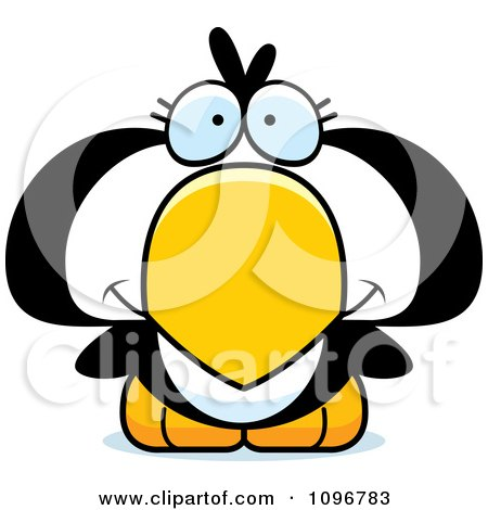 Clipart Cute Penguin Chick - Royalty Free Vector Illustration by Cory Thoman