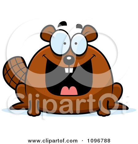 Clipart Happy Chubby Beaver - Royalty Free Vector Illustration by Cory Thoman