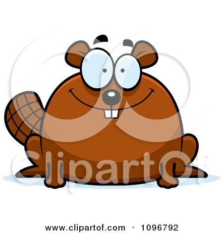 Clipart Smiling Chubby Beaver - Royalty Free Vector Illustration by Cory Thoman