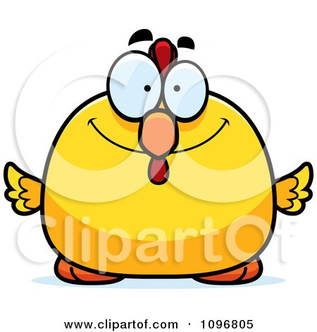 Clipart Happy Chubby Rooster Chick - Royalty Free Vector Illustration by Cory Thoman