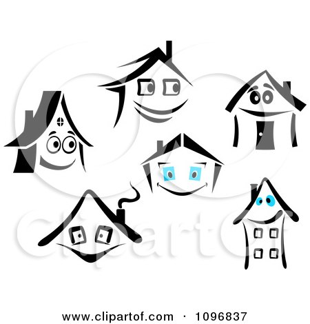 Clipart Happy Houses - Royalty Free Vector Illustration by Vector Tradition SM