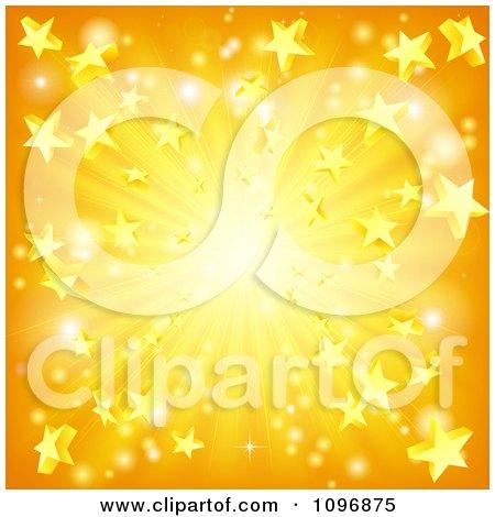 Orange And Yellow Star Burst Background Posters, Art Prints