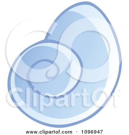 Clipart Blue Sea Shell - Royalty Free Vector Illustration by visekart
