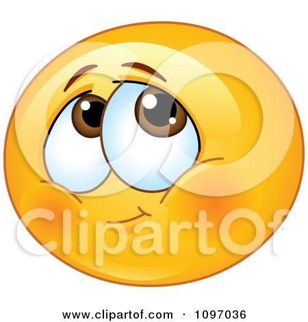 Blushing Shy Emoticon Posters, Art Prints
