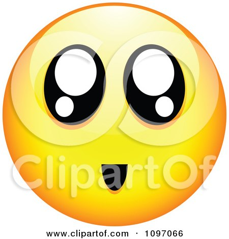 Clipart Surprised Yellow Cartoon Smiley Emoticon Face 2 - Royalty Free Vector Illustration by beboy