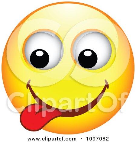 Clipart Yellow Goofy Cartoon Smiley Emoticon Face 5 - Royalty Free Vector Illustration by beboy