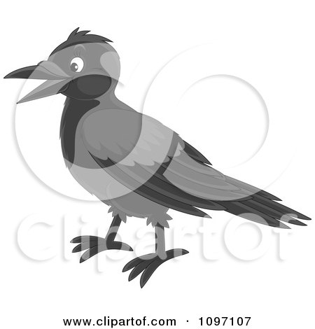 Clipart Happy Magpie - Royalty Free Vector Illustration by Alex Bannykh